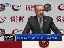 Erdogan Tegaskan Pemecatan Gubernur Bank Sentral
