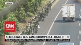 VIDEO: Iring-Iringan Bus Berpenumpang Prajurit TNI Tabrakan