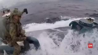 VIDEO: Penjaga Pantai AS Tangkap Kapal Selam Bawa Narkoba