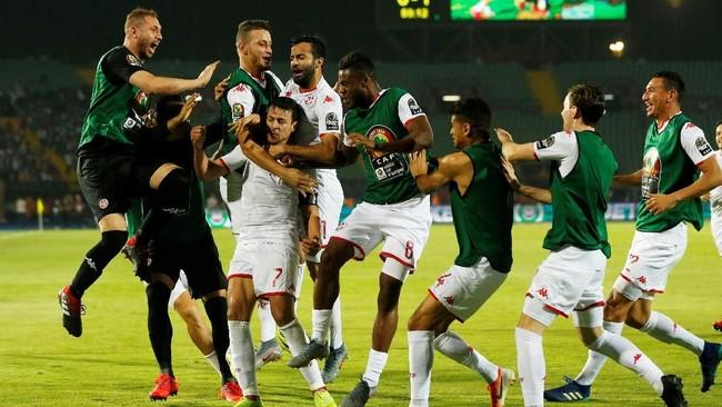 Tunisia lolos ke semifinal Piala Afrika 2019 setelah mengalahkan Madagaskar 3-0 di laga perempat final. (REUTERS/Amr Abdallah Dalsh TPX IMAGES OF THE DAY)