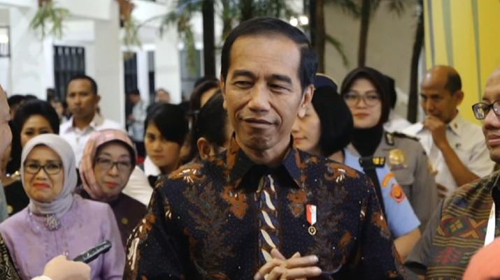 Presiden Joko Widodo (Jokowi) untuk pertama kalinya bicara soal reshuffle kabinet setelah terpilih sebagai Presiden pada periode keduanya. (CNBC Indonesia)