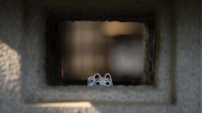Itu sebabnya, manekineko yang berwujud kucing ini dianggap sebagai pembawa keberuntungan.
