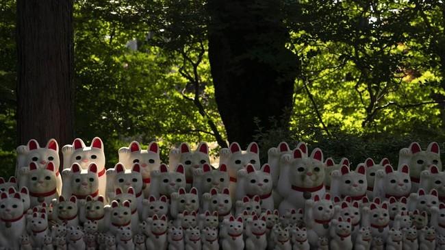 Manekineko adalah patung berbentuk kucing yang mengangkat salah satu kaki depannya.