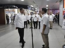 Bikin Adem, Ini Pernyataan Lengkap Jokowi dan Prabowo di MRT
