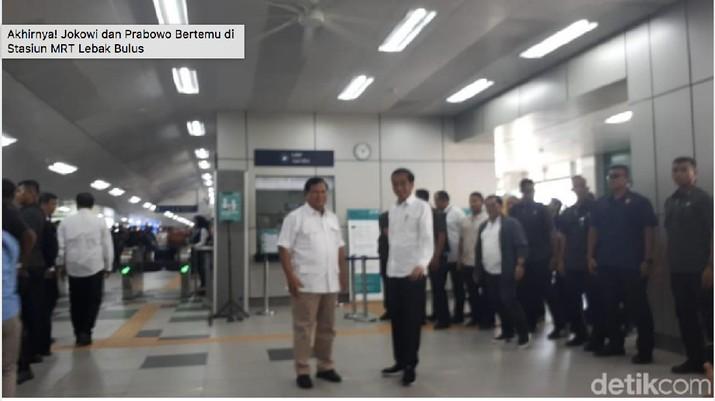 Presiden Joko Widodo (Jokowi) dan Ketua Umum Partai Gerindra Prabowo Subianto akhirnya hari ini