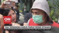 VIDEO: Tiga Tersangka Kasus Fairuz Resmi Ditahan