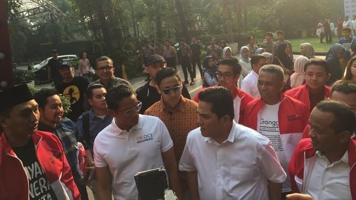 Setelah Jokowi-Prabowo, Giliran Sandiaga Meet Up Erick Thohir