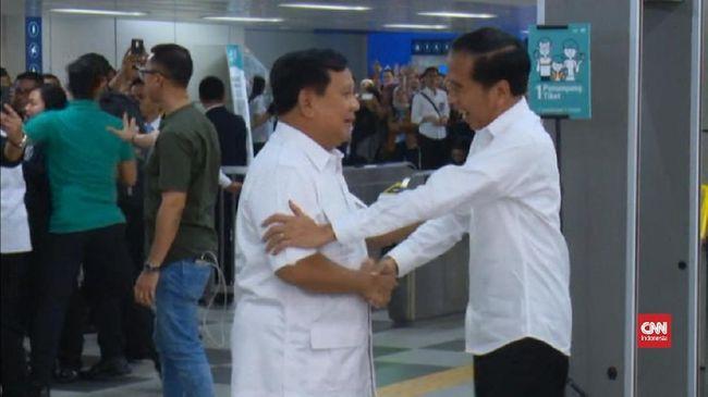 VIDEO: Pernyataan Damai di Pertemuan Singkat Jokowi-Prabowo