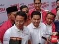 Momen Sandiaga Uno dan Erick Thohir Bertemu di Kemang