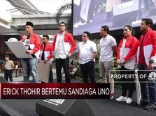 Moment Reuni Sandiaga Uno dan Erick Tohir