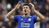 Harry Maguire menuding Leicester City mengambil keuntungan degan meningkatkan harga jualnya seiring dengan persaingan Manchester United dan Manchester City. (REUTERS/David Klein)