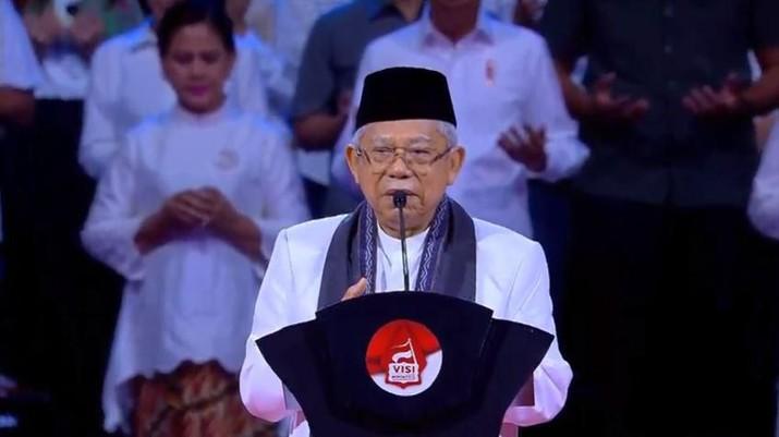 Wakil Presiden Ma'ruf Amin mengatakan setidaknya ada 7 pejabat BUMN yang sedang dibahas untuk diberhentikan