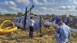KNKT: Tangki BBM Helikopter Jatuh di Lombok Ditemukan Kosong