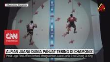 VIDEO: Alfian Juara Dunia Panjat Tebing di Chamonix