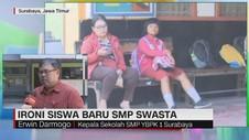 VIDEO: Ironis Siswa Baru SMP Swasta, Sepi Peminat