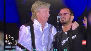 VIDEO: Paul McCartney dan Ringo Starr Reuni di Panggung