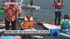 VIDEO: Ridwan Kamil Naik Kayak di Waduk Jatiluhur