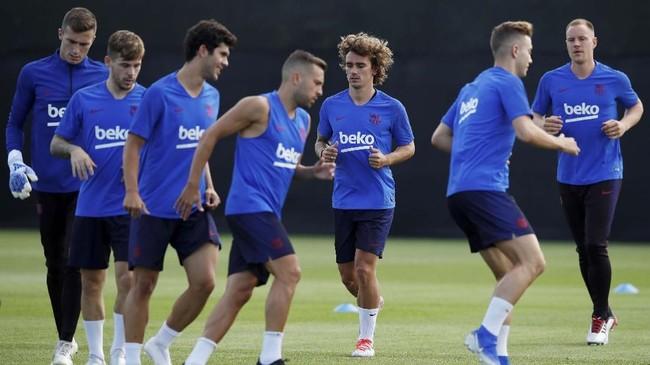 Salah satu target Griezmann bergabung dengan Barcelona adalah bermain dengan megabintang asal Argentina Lionel Messi. Saat ini Messi masih dalam masa liburan usai tampil di Copa America 2019 bersama timnas Argentina. (REUTERS/Albert Gea)