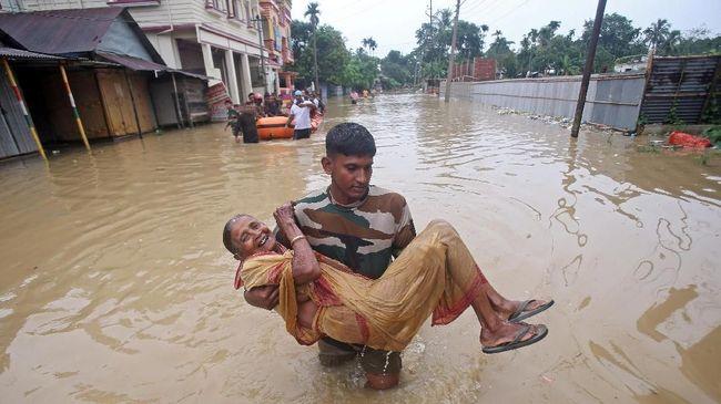 Korban Tewas Akibat Banjir di India Terus Bertambah