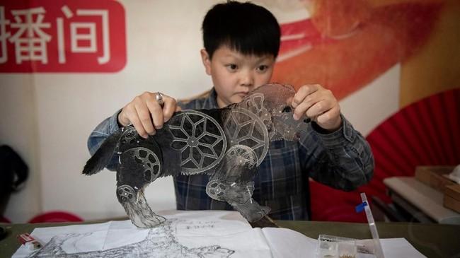 FOTO: Kecemasan Dalang Wayang Terakhir di Beijing