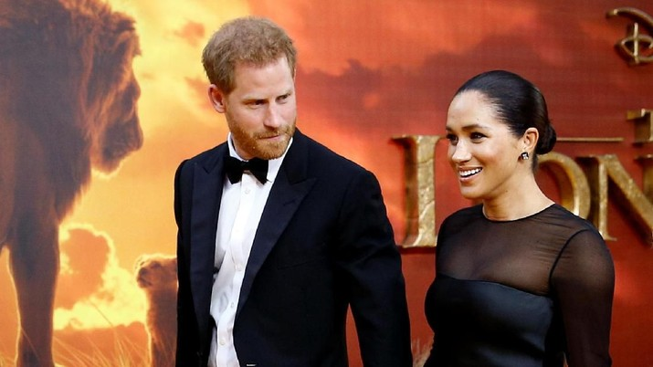 Britain's Prince Harry and Meghan, Duchess of Sussex attend the European premiere of