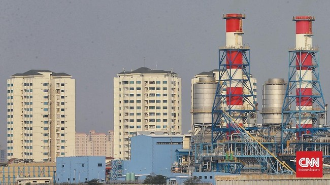 Kepala Bappenas Bambang Brodjonegoro dalam diskusi soal pemindahan ibu kota negara, 10 Juli 2019, menyatakan salah satu alasan memindahkan ibu kota dari Jakarta adalah karena kepungan PLTU. (CNN Indonesia/Andry Novelino)