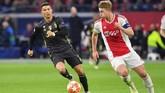 Kepindahan bek asal Belanda Matthijs de Ligt dari Ajax Amsterdam ke Juventus diyakini akan terjadi pekan ini setelah dijadwalkan akan tes medis di Turin, Rabu (17/7). (EMMANUEL DUNAND / AFP)