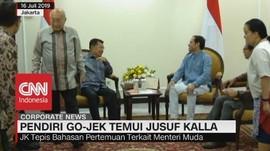 VIDEO: Pendiri Gojek Nadiem Makarim Temui Jusuf Kalla