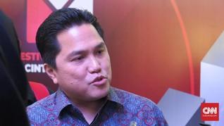 Erick Thohir Sebut Jokowi 'Gila Kerja'