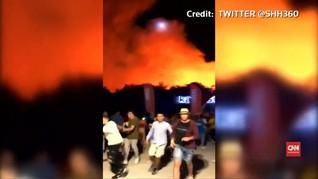 VIDEO: Kebakaran Lahan di Kroasia, Penonton Konser Dievakuasi