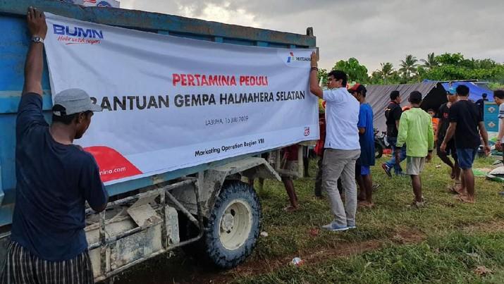 Tanggap Darurat, Pertamina Kirim Bantuan untuk Gempa Halsel