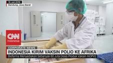 VIDEO: Indonesia Kirim Vaksin Polio ke Afrika