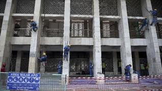 Tinjau Istiqlal, JK Jamin Renovasi Tak Ubah Bentuk Bangunan