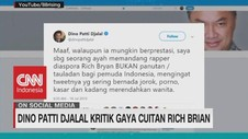 VIDEO: Dino Patti Djalal Kritik Gaya Cuitan Rich Brian