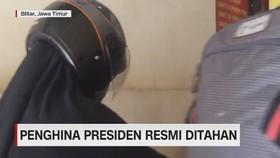 VIDEO: Penghina Presiden Resmi Ditahan