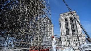 FOTO: Restorasi Katedral Notre Dame