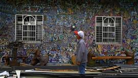 FOTO: Graffiti Peneman Desa Lansia di Taiwan