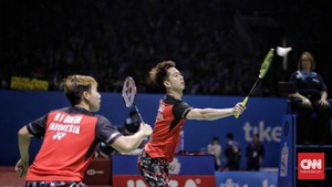 Kevin/Marcus Jumpa Ahsan/Hendra di Final Indonesia Open 2019