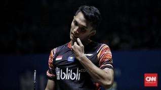 Jonatan Menyesal Gagal ke Semifinal Indonesia Open 2019