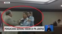 VIDEO: Pengacara Serang Hakim di PN Jakpus