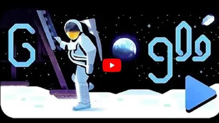 Google Doodle Rayakan 50 Tahun Pendaratan di Bulan Hari Ini