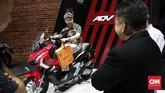 Honda ADV 150 cc dirilis di Indonesia sebagai pesaing Yamaha Nmax. (CNNIndonesia/Safir Makki)