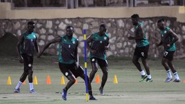 FOTO: Jaga Semangat Sebelum Final Senegal vs Aljazair