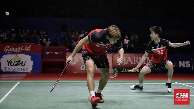 Kevin/Marcus kembali ke partai final setelah gagal menampilkan performa terbaik dalam beberapa turnamen. (CNN Indonesia/Adhi Wicaksono)