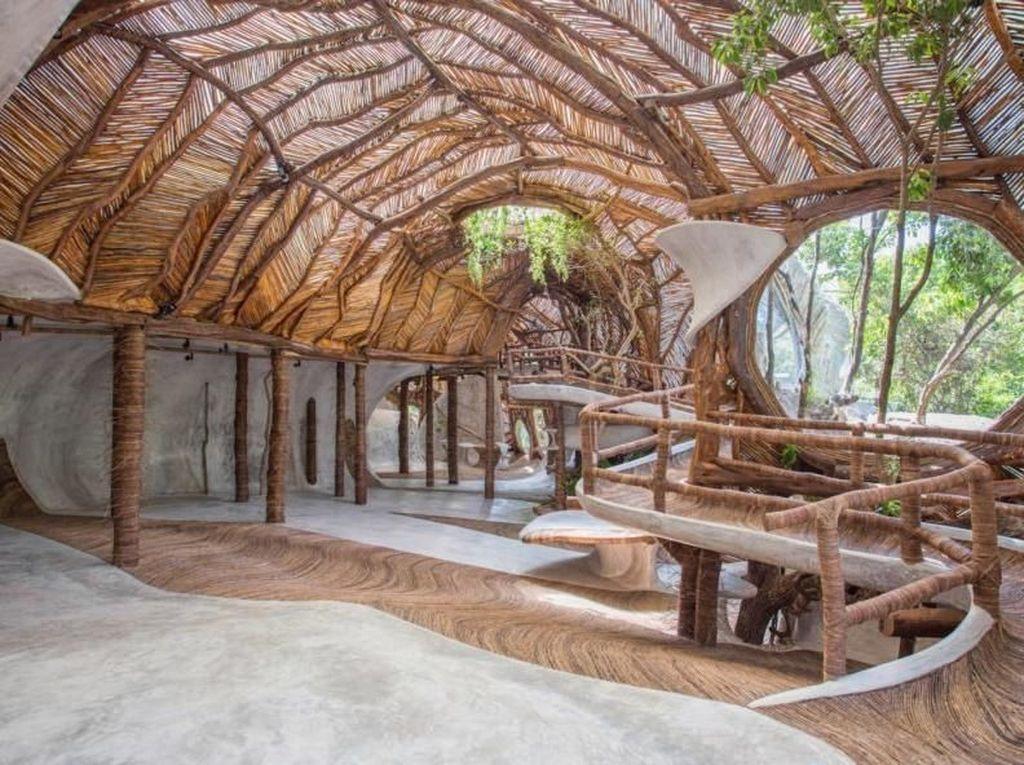 Luum Temple dibangun di dalam kawasan hutan lindung Kota Tulum. Inhabitat-CO-LAB Design Office.