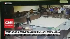 VIDEO: Pengacara Penyerang Hakim Jadi Tersangka