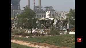 VIDEO: 10 Orang Tewas akibat Ledakan Pabrik Gas di China