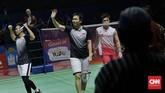 Ahsan/Hendra melaju ke final dan berpeluang mengulang capaian juara yang pernah diraih pada Indonesia Open 2013. (CNN Indonesia/Adhi Wicaksono)