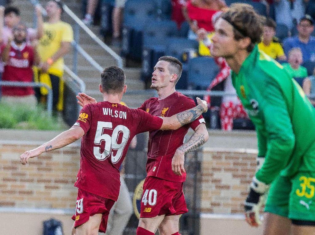 Liverpool menyamakan skor menjadi 1-1 di menit ke-35. Gol Si Merah dicetak oleh Harry Wilson. (Foto: Reuters)