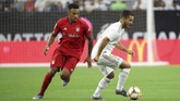 Real Madrid yang diperkuat pemain anyar mereka, Eden Hazard, harus menelan kekalahanmenyakitkan dari Bayern Munchen di ICC. (Thomas B. Shea/USA TODAY Sports)